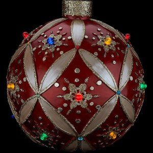 "14"" Illuminated Ornament with LED Lights"